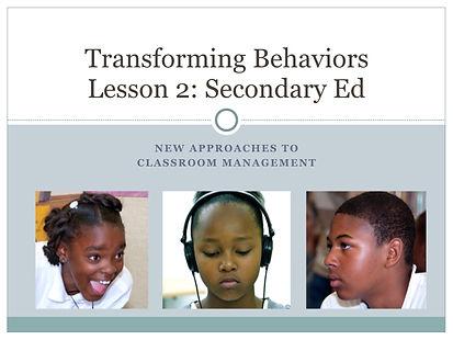 Transforming Behaviors_Secondary Ed .001