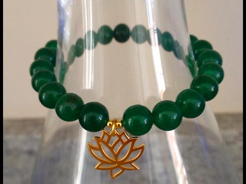 Green Aventurine Lotus Bracelet