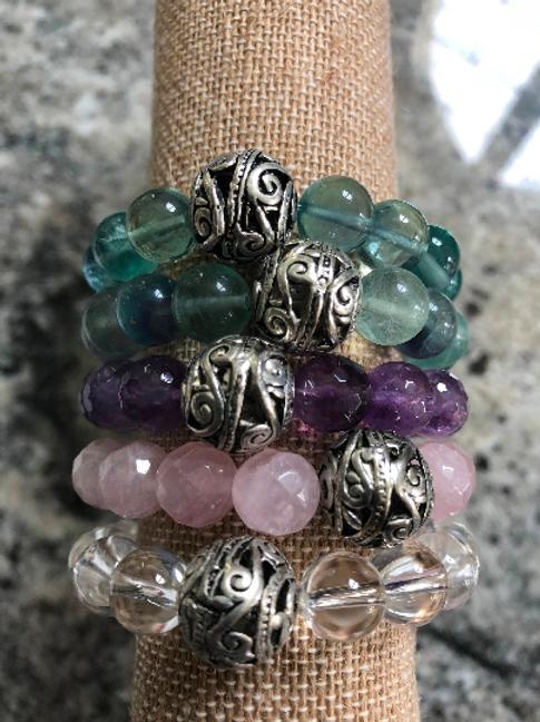 Gemstone Mala Bracelet