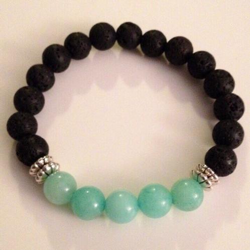 Amazonite & Lava Bracelet