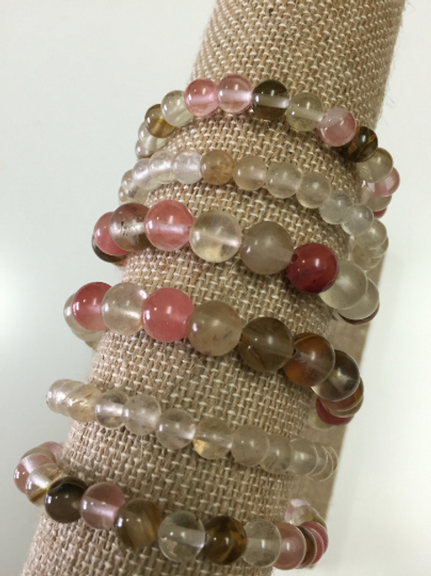 Cherry Quartz Bracelet Stack