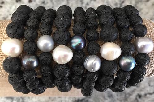 Lava & Pearl Bracelet
