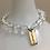 Thumbnail: Clear Quartz Namaste Bracelet