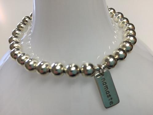 Silver Namaste Bracelet