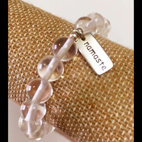 Clear Quartz Namaste Bracelet