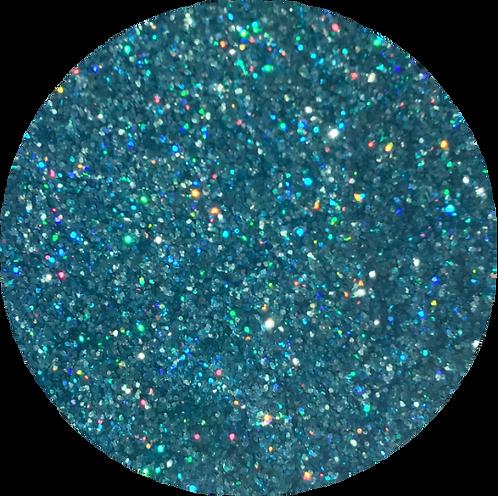 | Aquamarine | Diamond Dust Glitter Hoops