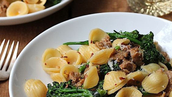 Thai Orecchiette Duck with  Toasted Sesame Seeds in a Chinese Honey Glaze