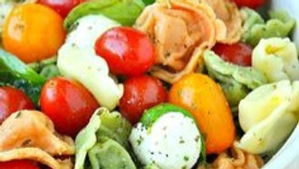 Fresh Caprese Salad with Cheese Tortillini (Pasta)