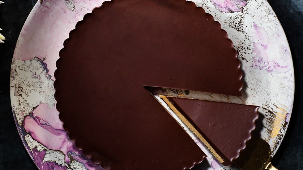 Giant Chocolate Peanut Butter Cup - Slice