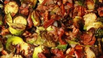 Roasted Brussel Sprouts with Homemade Bacon Jam