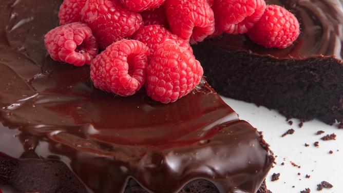 Flourless Chocolate Cake with Bavarian Chocolate Ganache