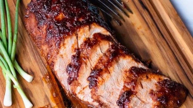 "Korean BBQ Pork Loin with Baked Beans & ""Street Corn"" on the Cob"