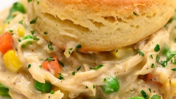 Chicken Pot Pie with Jumbo Buttermilk Biscuit