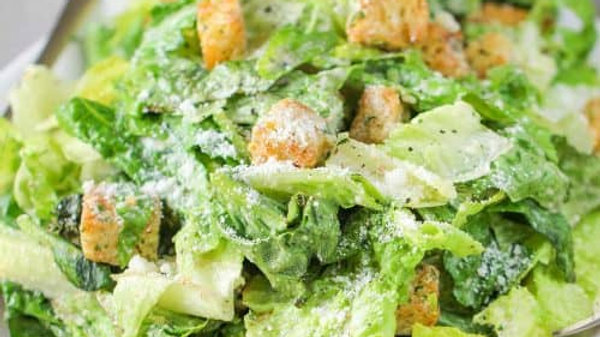 Classic Caesar Salad Made with Anchovies