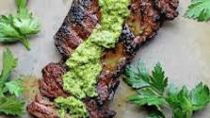 Marinated Grilled Skirt Steak with Fresh Chimichurri Sauce
