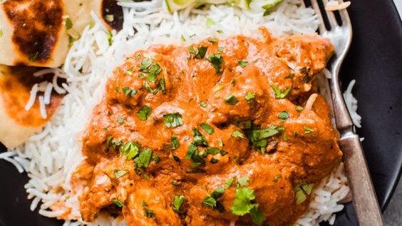 Chicken Tikka Masala with Hot Garlic Butter Rice