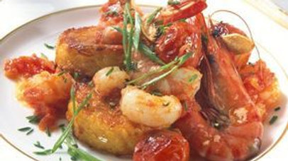 Shrimp & Scallop  Provencal over Jasmine Rice with Crusty French Bread