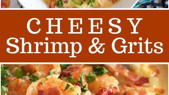 Cheesy Jumbo Shrimp & Grits