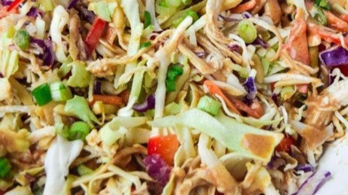 Asian Salad with Chicken Teriyaki, Grilled Steak or Sesame Ginger Shrimp