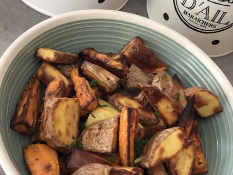 Frites de patate douce et de pomme de terre