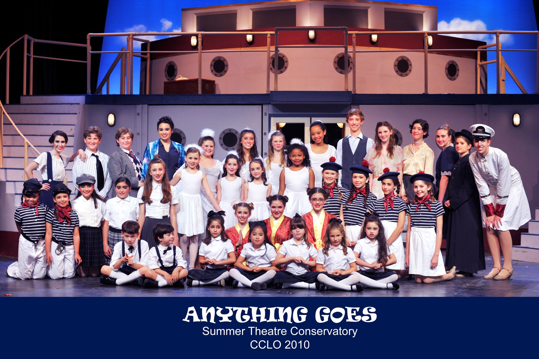 ANYTHING GOES cast photo