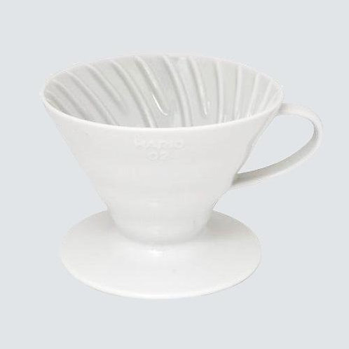 Ceramic V60 02 Dripper White