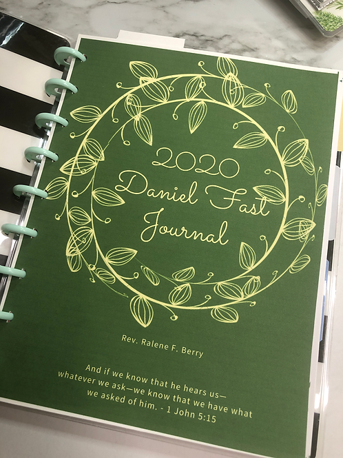 Daniel Fast Fasting Journal