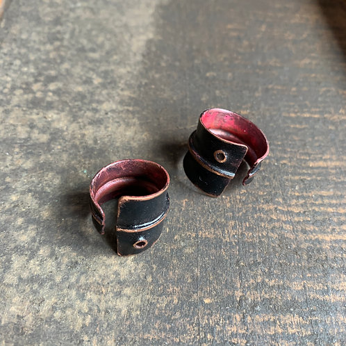 India Ink Copper Ring