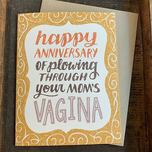 Your Mom's Vagina Birthday Card