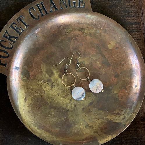 Stone + Brass Earrings #2