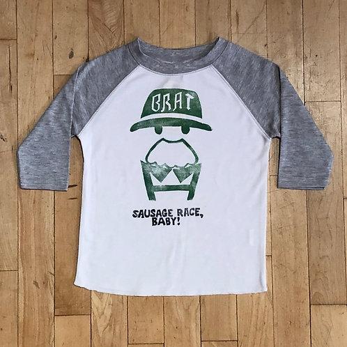 Brat: Sausage Race Baby! Baseball T-Shirt