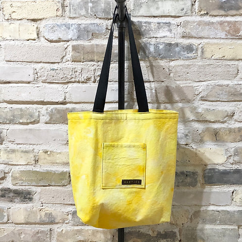 Lemon Yellow Shoulder Tote