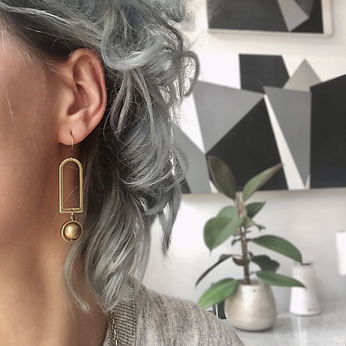 Nixon | Brass Earrings