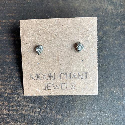 Pyrite Crystal Stud Earrings