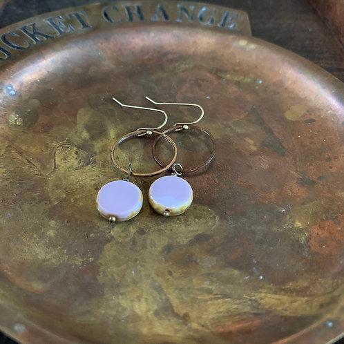 Lavender Czech Glass Earrings