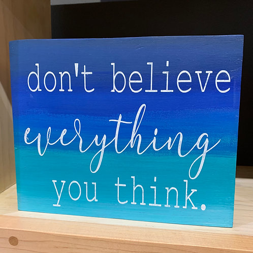 Don't Believe Everything You Think - Shelf Sitter