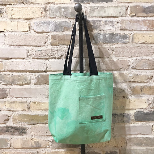 Sea Foam Green Shoulder Tote