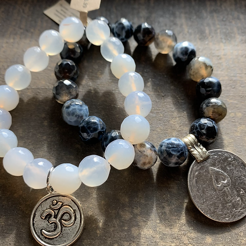 Infinite Warrior Clear Quartz Ohm Bracelet