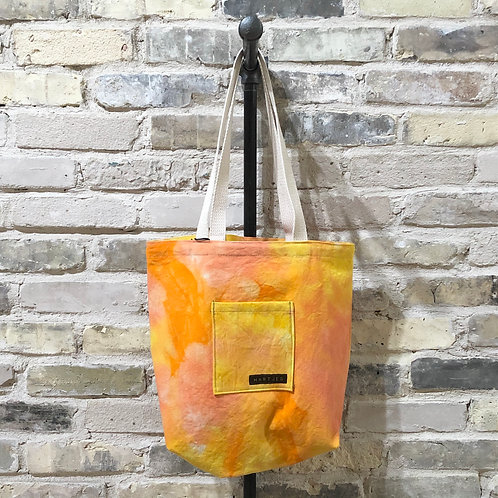 Orange, Peach & Yellow Shoulder Tote