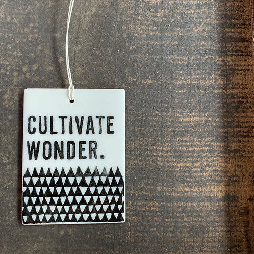 Porcelain Wall Tag - Cultivate Wonder