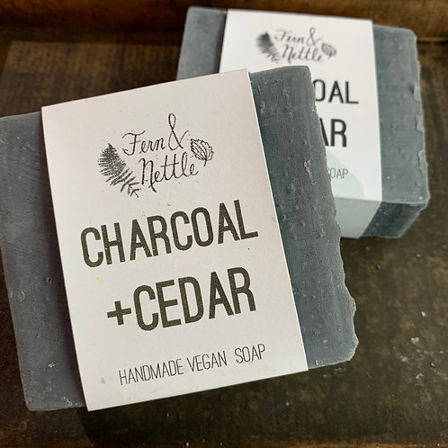 Charcoal + Cedar Handmade Bar Soap