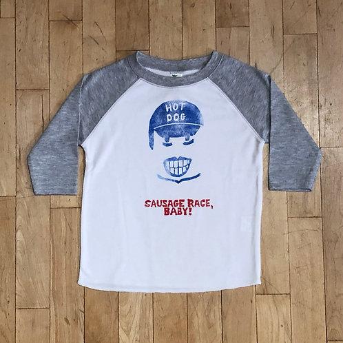 Hot Dog: Sausage Race Baby! Baseball T-Shirt