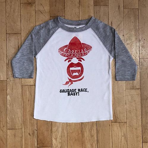 Chorizo: Sausage Race Baby! Baseball T-Shirt