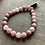 Thumbnail: Infinite Warrior Matte Strawberry Quartz Bracelet