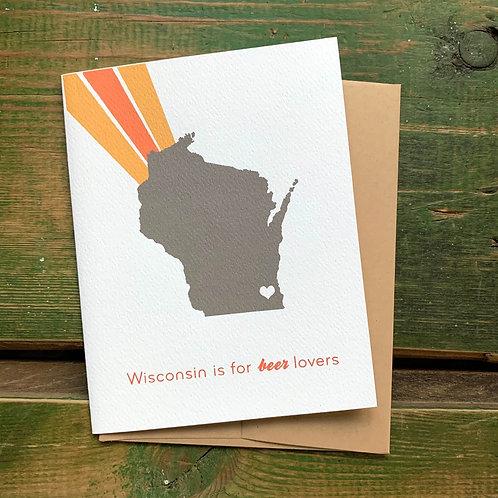 Wisconsin Beer Lovers Greeting Card