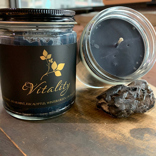 Soja Bougie Noir - Vitality - Luxury Pure Soy Candle
