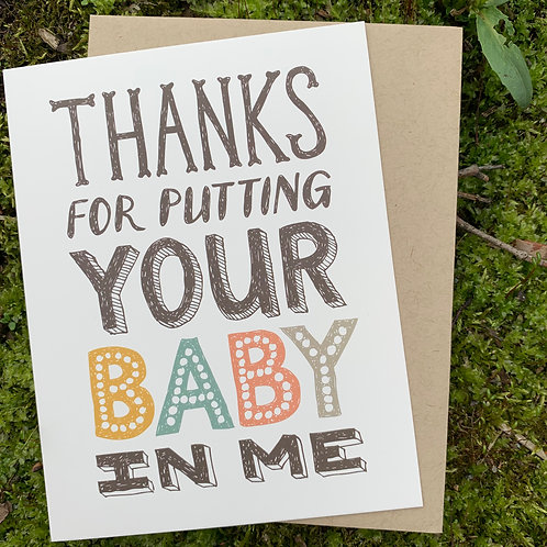 Your Baby Father's Day Card