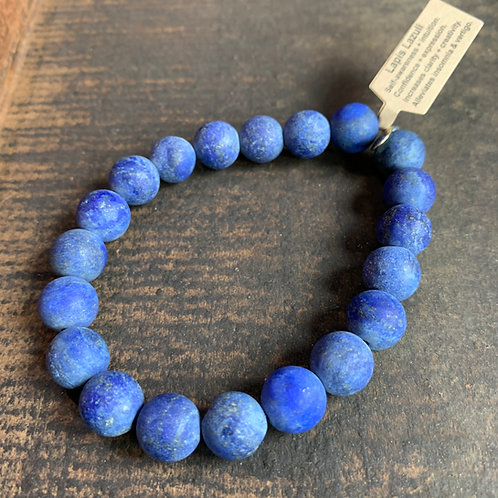 Men's Infinite Warrior Matte Lapis Lazuli Bracelet