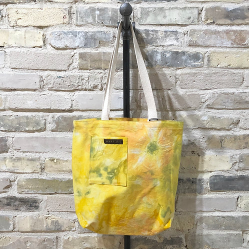 Yellow, Green & Apricot Tie Dye Shoulder Tote