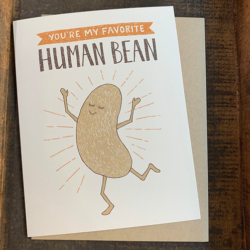 Favorite Human Bean Card